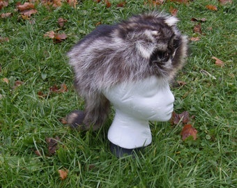 Coon Skin Hat - Raccoon - Cap  - Small - Gift - Holiday - Mount - Taxidermy