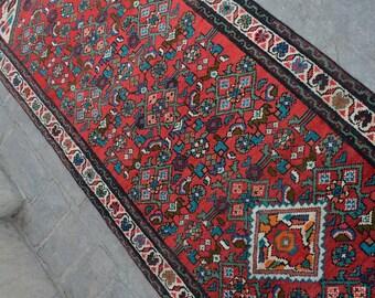 Handmade Old Afshari Persian runner, rug runner