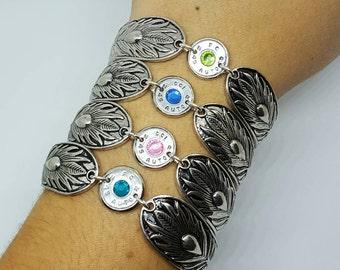 Bullet & Feather Bracelet