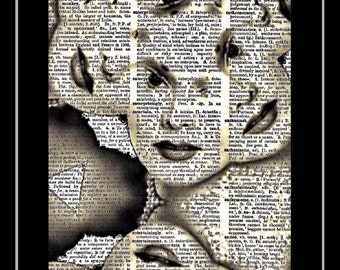 Zsa Zsa Gabor/beauty is everywhere/ upcycle art/art prints