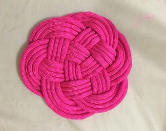 Paracord Coaster (multiple colors available!)