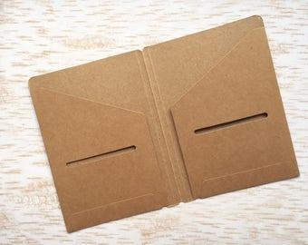 Kraft folder for traveler's notebook Passport size