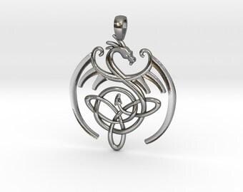 Dragon celtic knot pendant