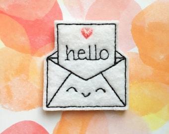 Felties, Happy Mail, Valentine's Day, Pen Pal, Love Letter, Felt Applique