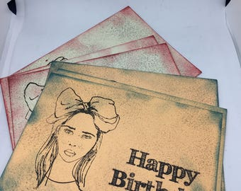 BLANK BIRTHDAY CARDS/  x 6 pack with Envelopes  ( Ready to Ship)