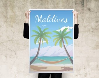 Maldives Travel Poster
