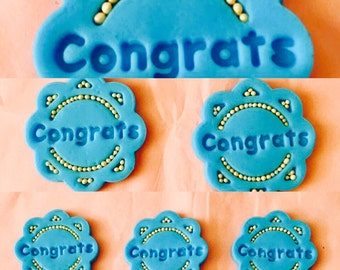 Congratulations Cupcake Toppers