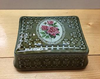 Irish Porcelain Trinket Box Paddy Mcgredy Floribunda Wade Co Amargh