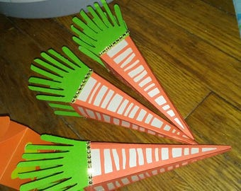 3D carrot candy boxes