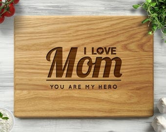 Gift for Mom I Love You Mom Cutting Board Mothers Day Gift Personalized Cutting Board Mom Birthday Mother Gift Gift for Her Mother's Day