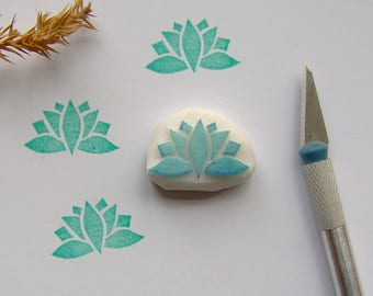 Lotus rubber stamp, lotus stamp, flower stamp, water lily stamp, yoga stamp, waterlily stamp, lotus waterlily, lotus flower, lotus yoga, DIY