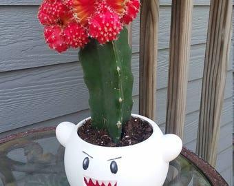 Boo [Mario] Flower Pot & Planter