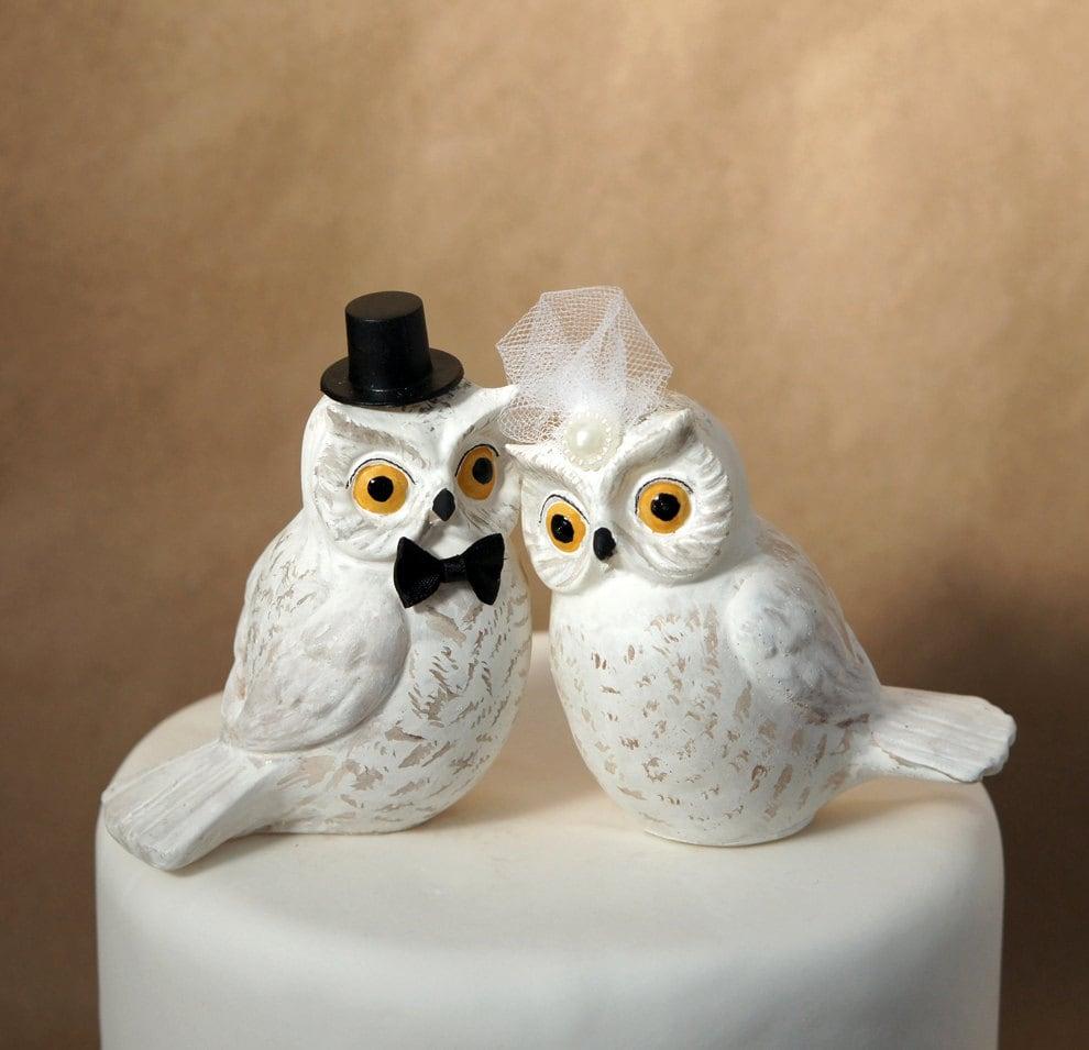 snowy white owl wedding cake topper owl wedding cake topper