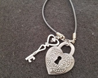 Key and Heart Bracelet
