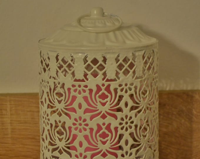 10%OFF Off White Metallic Moroccan Lantern / Wedding lantern /Rustic lantern / lanterns