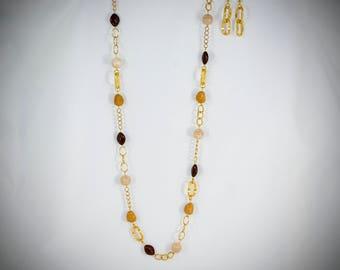 Brown, Tan, Cream and Gold Asymmetrical - BR29