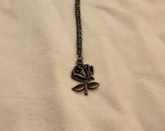 Handmade Bronze Rose Charm Bracelet