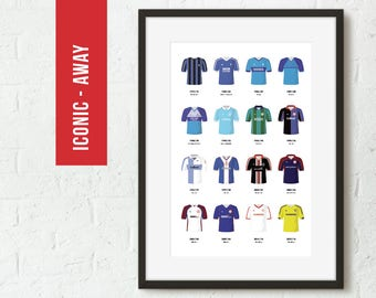 Middlesbrough Iconic Away Football Kits Team Poster Art Print *FREE UK DELIVERY* Gift Idea