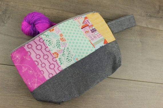 Medium patchwork project bag