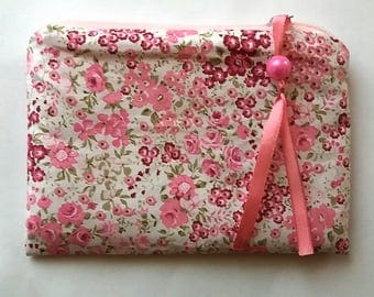Beauty ash, make-up bag, jewelry bag, wallet, purse, pouch, flowers, floral, romantic, birthday gifts for women,.