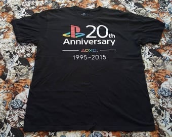 Sony PlayStation 20th anniversary shirt Size XL Video Game