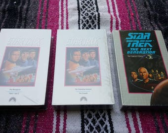 3 STAR TREK VHS Cassette tapes New  Factory Sealed