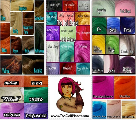 48 Color Mega Create-a-thon Variety Pack Nylon Doll Hair for Rerooting Barbie Monster High Ever After Blythe Crissy Rehair MLP INTL SHIP