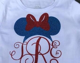 Patriotic Disney! Personalized w Monogram  July 4, Memorial Day