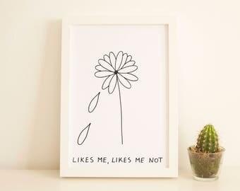 Likes Me, Likes Me Not Original Artwork