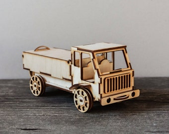 DIY Truck model kit,Wooden 3D puzzle kit,lorry, wooden model kit,DIY model, Wooden truck, Christmas Gifts