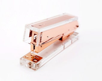 Gold / Rose Gold Acrylic Stapler