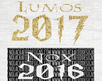 New Years Svg Cut File - New Years Eve Svg Cut File - Harry Potter Svg Cut File - Lumos 2017 Svg Cut File -