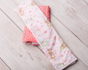 Set of Two Burp Cloths - Bunnies & Polka Dots