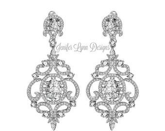 Chandelier Bridal Earrings Statement Wedding Earrings