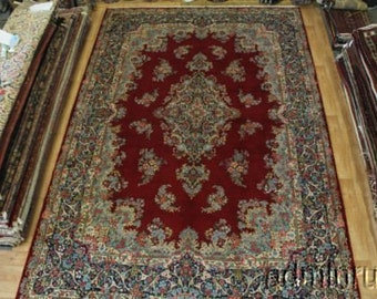 Oversized Palace Traditional Kerman Persian Wool Oriental Area Rug Carpet 11X17