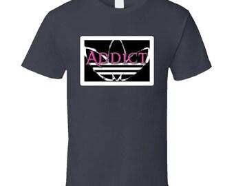 Parody-  Addict Pink T Shirt