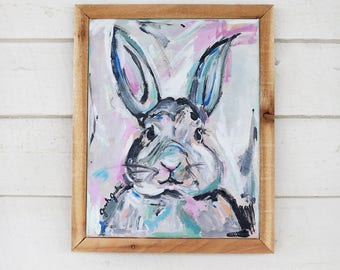 "bunny painting - ""Kimmy"" - animal painting - original painting"