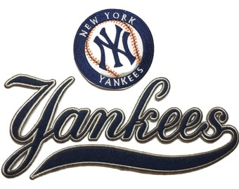 New York NY Yankees Iron on Script patch Set