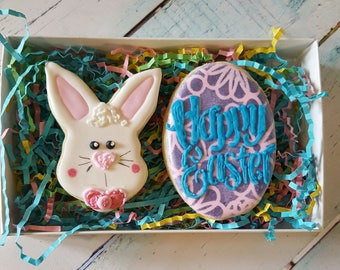 Bunny Face & Easter Egg Cookies