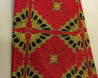 African print fabric by the Yard/Gorgeous Red/ African clothing