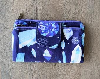 Zipper Wallet, Wallet, Woman's Wallet, Clutch, Clutch Wallet, Purse, Double Zipper Wallet, Double Zip Wallet, Double Pocket Zippered Wallet