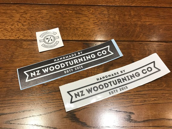 Set of 3 NZ WoodTurning Stickers!