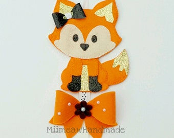 Cute Fox Hair Clip Holder , hair clip organizer