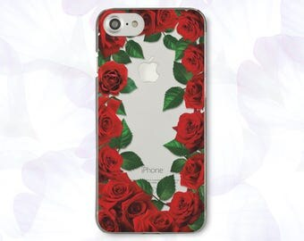 Flowers iPhone 7 Plus Case Red iPhone 7 Case Roses iPhone 6 Plus Case For Samsung S6 Case Clear iPhone SE Case For Samsung Note 5 Case 446