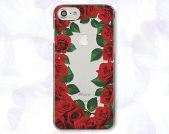 Flowers iPhone 7 Plus Case Red iPhone 7 Case Roses iPhone 6 Plus Case For Samsung S6 Case Clear iPhone SE Case For Samsung Note 5 Case 446