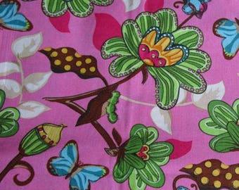 Flower garden printed fabric