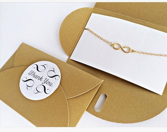 Infinity bracelet GOLD // GOLDEN packaging
