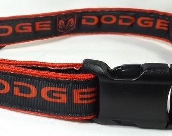 Dodge Dog Collar - Black and Red FREE Shipping