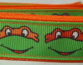 Teenage Mutant Ninja Turtle Dog Collar - Turtle Dog Collar - FREE Shipping