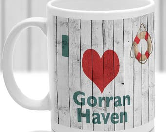 Gorran Haven mug, Gift to remember Cornwall, Ideal present,custom design.